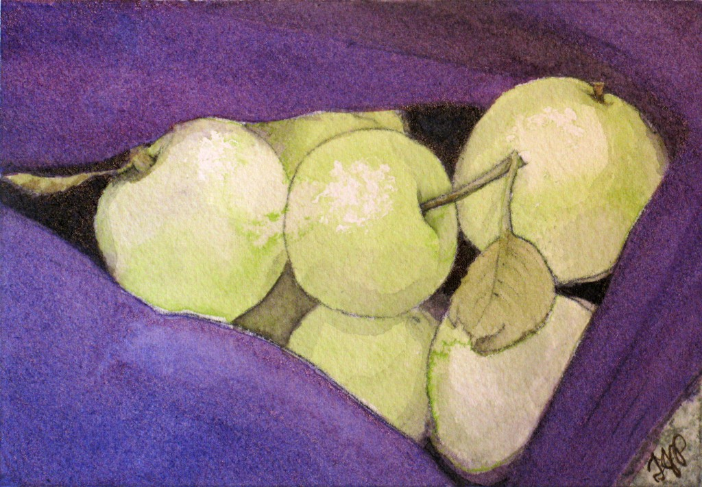 Green Apples In A Purple Sweater 2
