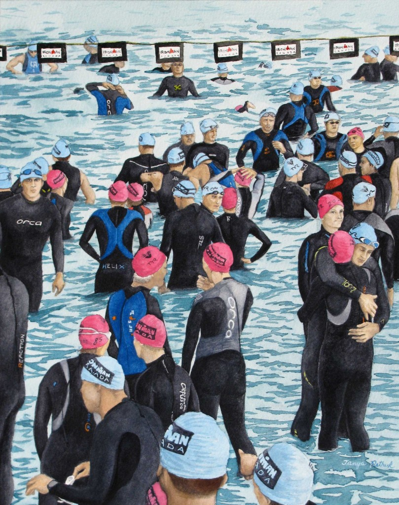 Preparing for the Swim, Ironman Penticton, 2009, Watercolour, 11X14 ($360.00)