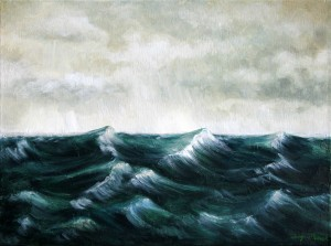 Storm Sea, Acrylic on canvas, 18X24, ($950.00)