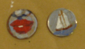 Coin paintings by Whitby art class artist instructor Tanya Petruk