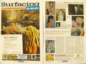 Profile of artist Tanya Petruk in Surfacing, issue Fall 2012