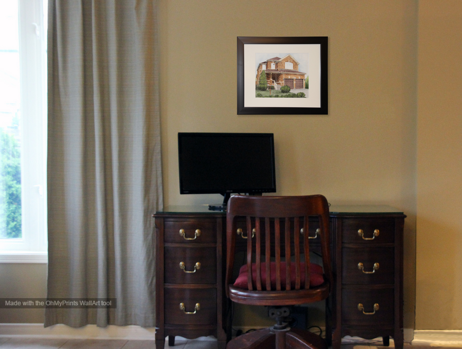 House Portrait By Tanya Petruk Displayed On Wall